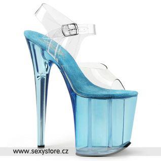 Taneční modré sexy boty na extrémním podpatku FLAMINGO-808T FLAM808T/C/LBL