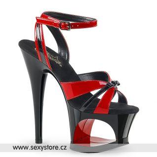 Sexy červenočerné strip boty MOON728/R-B/B