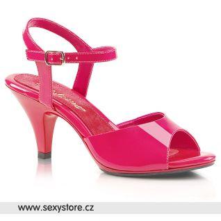 Tmavě růžové společenské sandálky BELLE-309 BEL309/HP/M