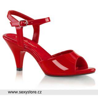 Červené společenské sandálky BELLE-309/R/M
