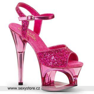 Růžové sandály na vysokém podpatku MOON710GT/HPG/PN
