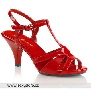 Červené společenské sandály BELLE-322 BEL322/R/M