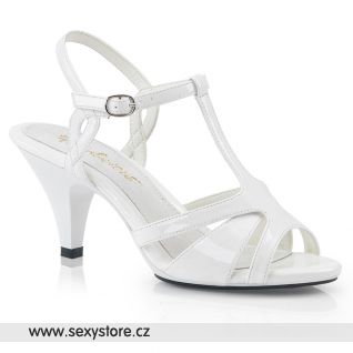 Svatební bílé sandály BELLE-322 BEL322/W/M