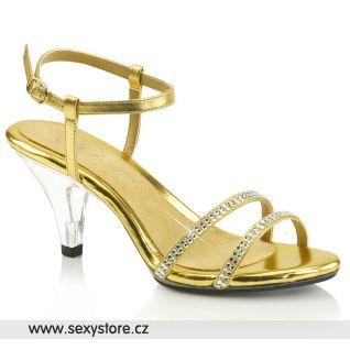 Zlaté sandálky BELLE-316 BEL316/GMPU/C