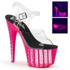 Boty na podpatku s platformou Extra sexy růžovo černé sandály ADO708VLRS/C/NHP