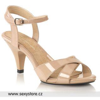 Béžové sandálky na nízkém podpatku BELLE-315 BEL315/ND