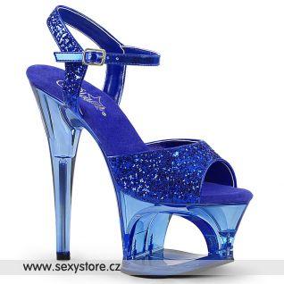 Modré sandály na vysokém podpatku MOON710GT/BLG/M