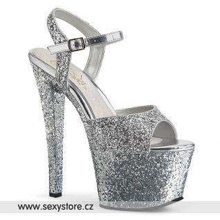 SKY310LG/SG/M Stříbrné sexy boty