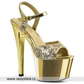 Zlaté sexy boty SKY-310SQ SKY310SQ/G/GCH