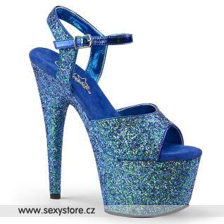 Modré sandály se třpytkami ADORE-710LG ADO710LG/BLG/M