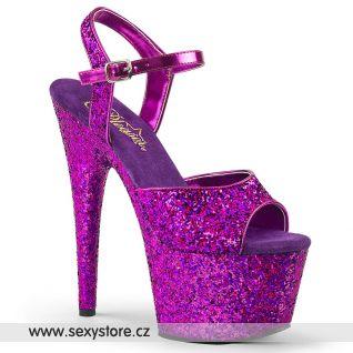 Fialové sandály se třpytkami ADORE-710LG ADO710LG/PPG/M