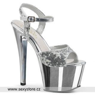 Stříbrné sexy boty SKY310SQ/S/SCH