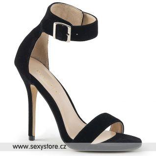 Černé semišové sandály AMU10/BVEL