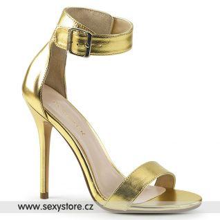 Zlaté sandály AMU10/GMPU