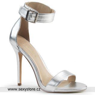 Stříbrné sandály AMU10/GMPU