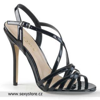 Černé páskové sandály AMUSE-13 AMU13/B