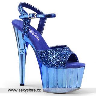 Modré sandály na vysokém podpatku ADO710GT/BLG/M