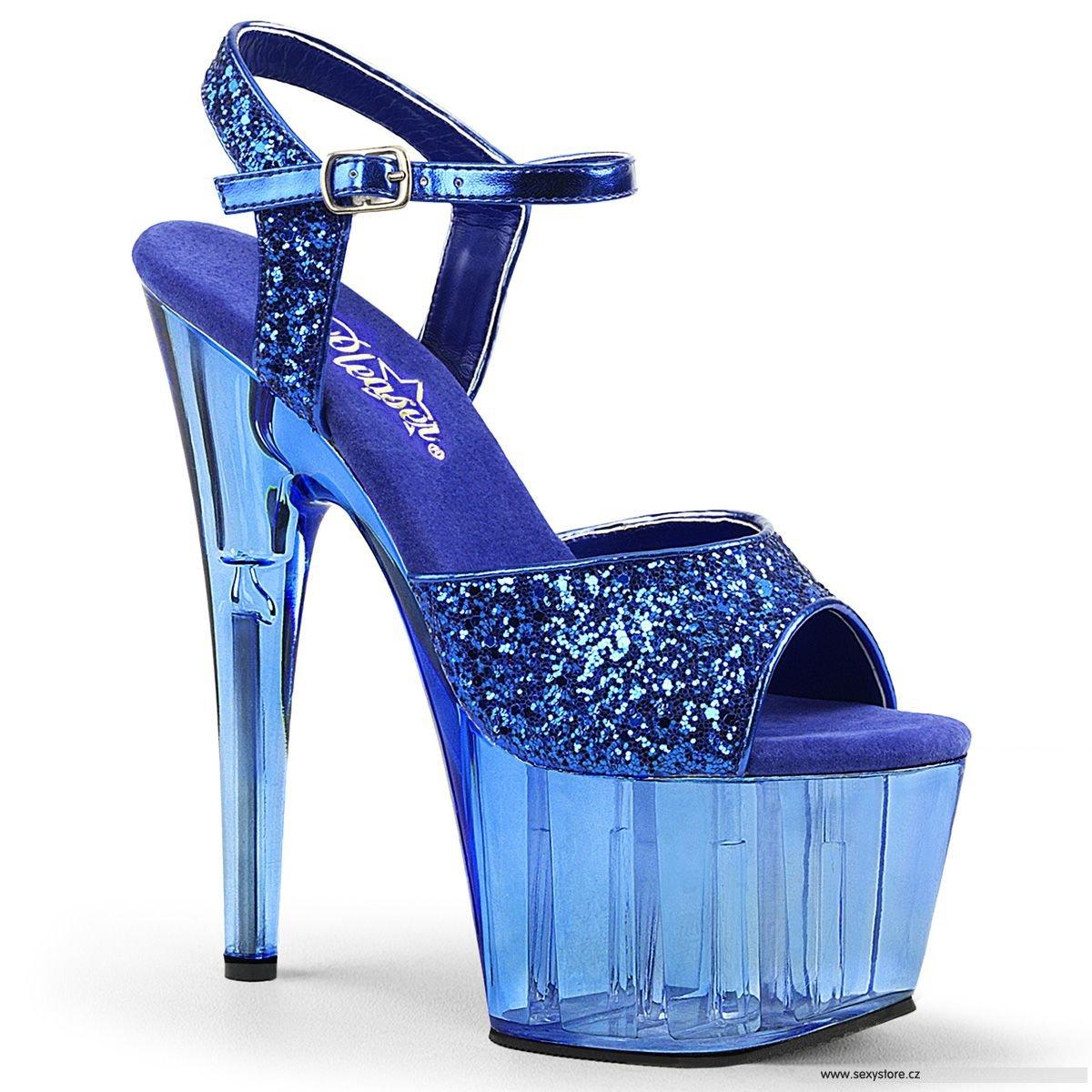 d8f19101ae2 Modré sandály na vysokém podpatku ADO710GT BLG M