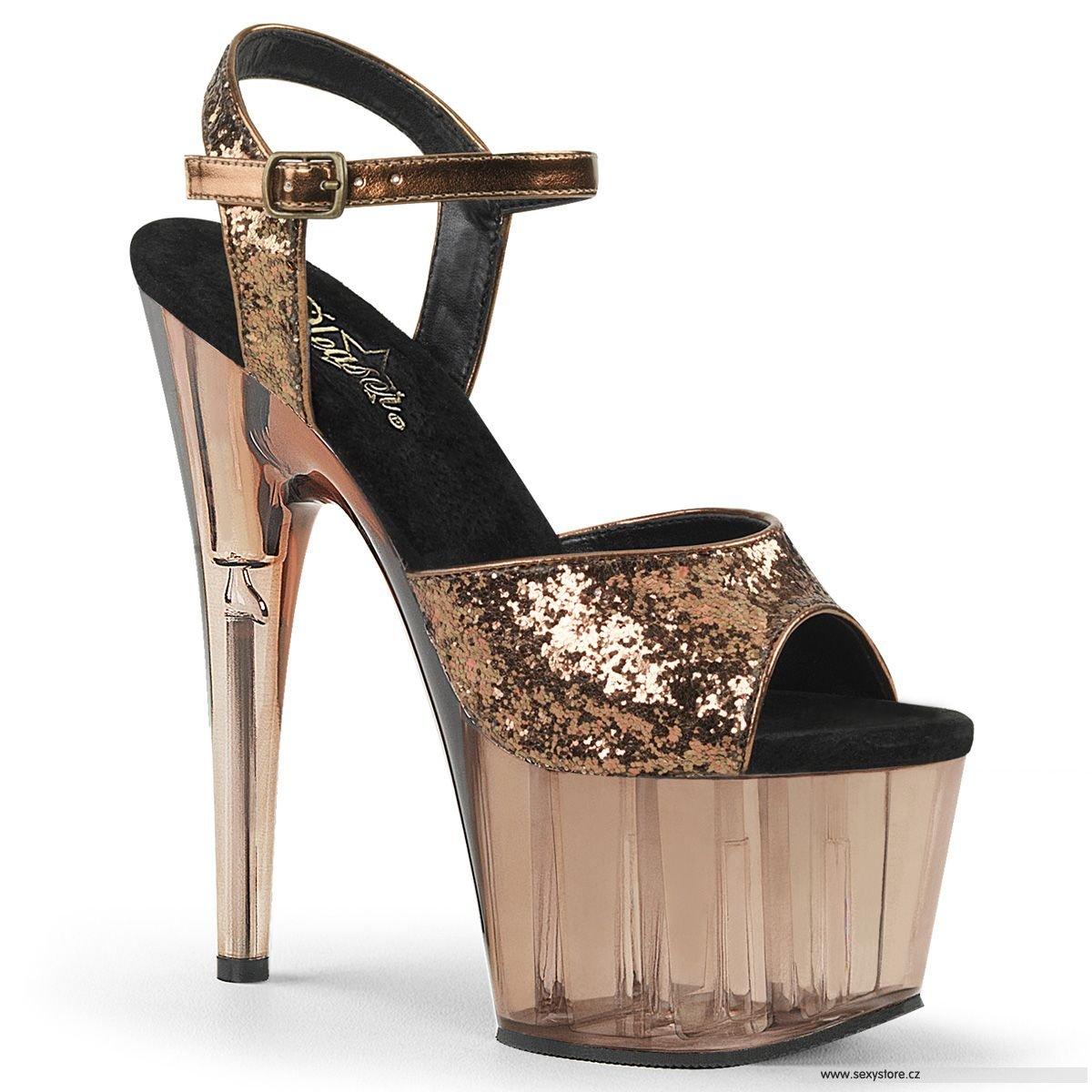 ADORE-710GT Bronzové sandály na vysokém podpatku ADO710GT BZG M ... 873d4fab18