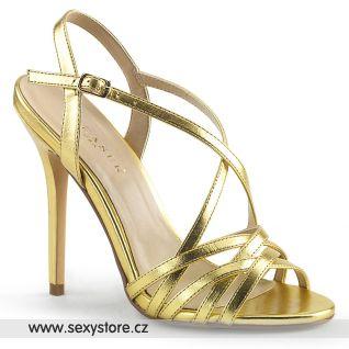Zlaté páskové sandály AMUSE-13 AMU13/GMPU