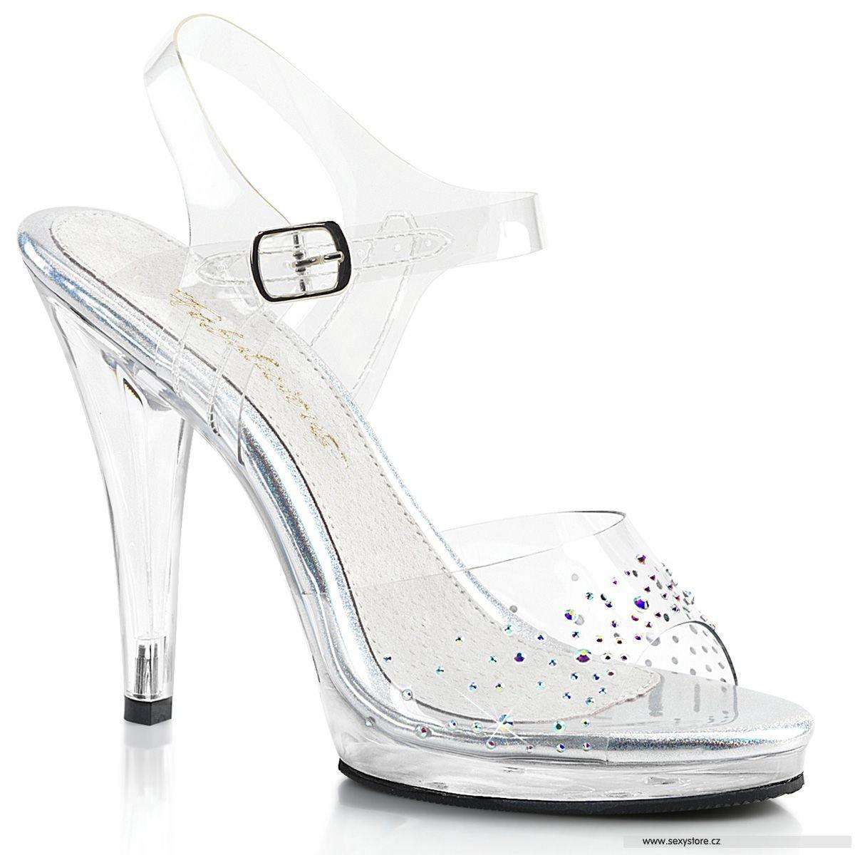 Luxusní sandály na podpatku FLAIR-408SD FLA408SD C M  34f502e1bd