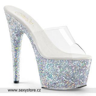 ADO701LG/C/SG Luxusní stříbrné pantofle