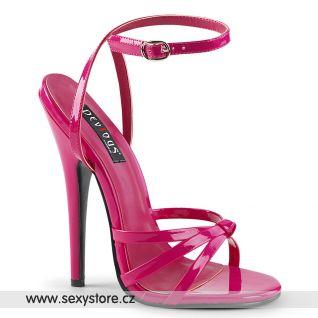 Tmavě růžové erotické sandály DOM108/HP DOMINA-108