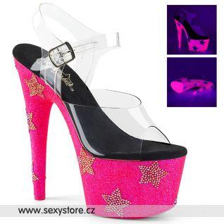 Luxusní růžové svítící boty s hvězdami ADO708STAR/C/NHPG-RS