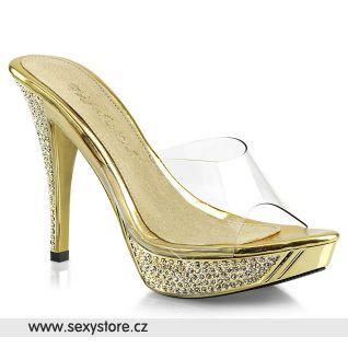 ELEGANT-401 Zlaté pantofle ELEG401/C/GCH