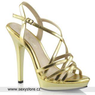 Zlaté páskové sandály LIP113/GMPU/M