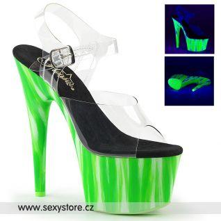 ADORE-708UVP ADO708UVP/C/CDGRN Zelené svítící sexy boty