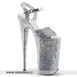 BEYOND-010LG Stříbrné boty na nejvyšším podpatku BEY010LG/SG/M