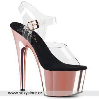 Sexy boty růžové zlato ADORE-708/C/ROGLDCH