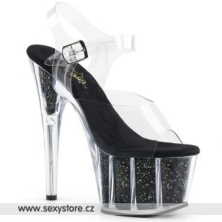 ADO708G/C/BGI Černé sexy boty na vysokém podpatku