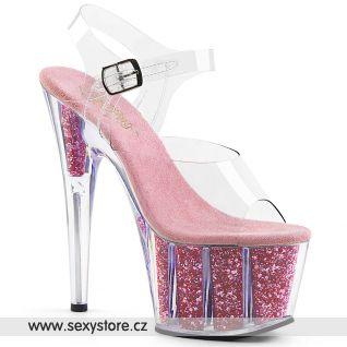 ADO708G/C/BPGI Světle růžové sexy boty na vysokém podpatku