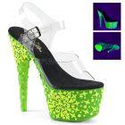 ADORE-708NSK ADO708NSK/C/GRN Zelené svítící sexy boty s hvězdičkami