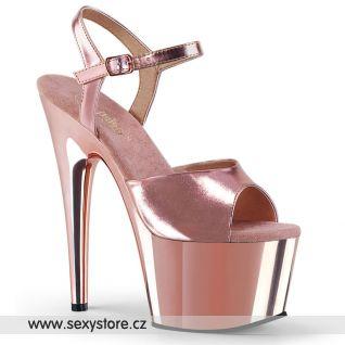 ADORE-709 ADO709/ROGLDPU/M Růžové sexy boty na vysokém podpatku