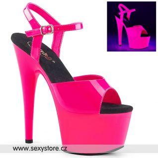 ADORE-709UV ADO709UV/NHP/M Růžové svítící sexy boty