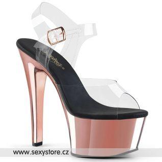 Sexy boty růžové zlato ASP608/C/RGCH