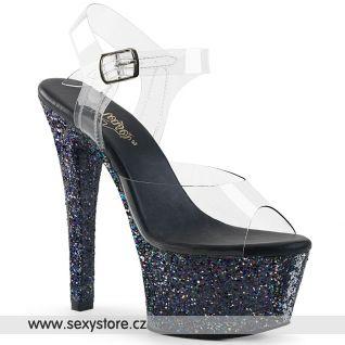Černé sexy boty ASP608LG/C/BG