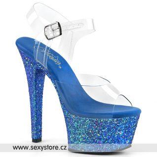 Modré sexy boty ASP608LG/C/BLG