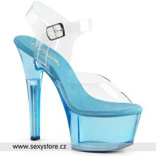 ASPIRE-608T Modré taneční sexy boty ASP608T/C/LBL