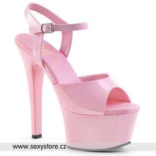 Růžové sexy boty ASPIRE-609 ASP609/BP/M