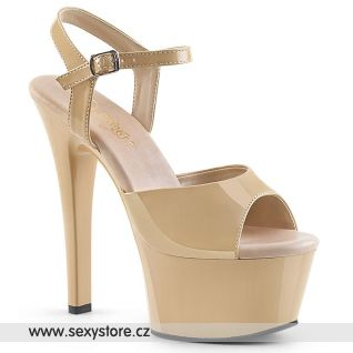 Krémové sexy boty ASP609/CR/M