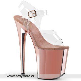 Sandály extra vysoké podpatky FLAMINGO-808 FLAM808/C/ROGLDCH