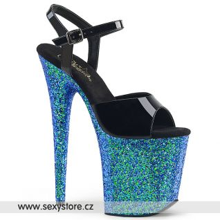 Tyrkysové sexy sandály FLAMINGO-809LG FLAM809LG/B/BLG