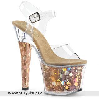 RAD708BHG/C/BZ bronzové sexy boty na velmi vysokém podpatku