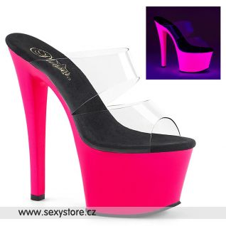 Růžové svítící pantofle SKY302UV/C/NHP