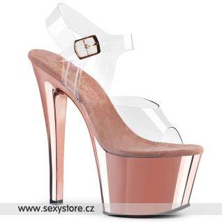 Sandály na vysokém podpatku a platformě SKY308/C/ROGLDCH